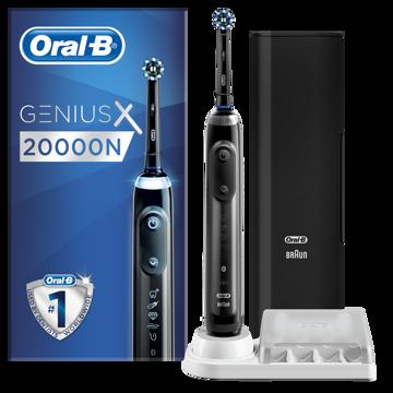 Kép Oral-B Genius X szürke, CA fejjel, premium pótfej tartóval